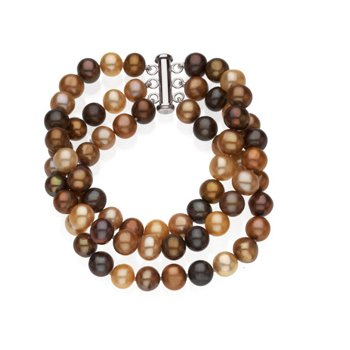 Freshwater Cultured Chocolate Pearl Bracelet
