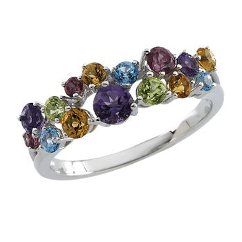 Genuine Multi Gem-stone Ring
