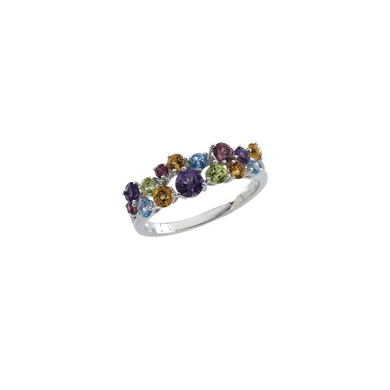 Ladies' Jewelry Genuine Multi Gem-stone Ring
