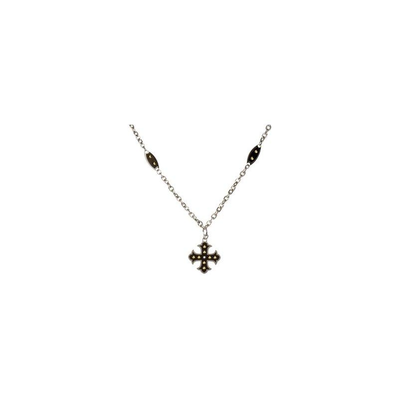 Holiday Ideas Ion Plated Diamond Cross Necklace