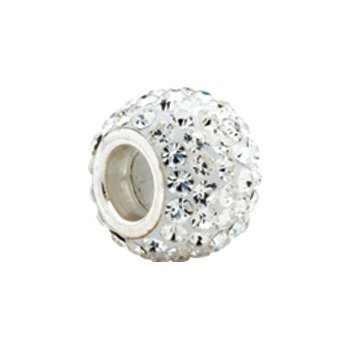 Kera Roundel Bead with Crystals