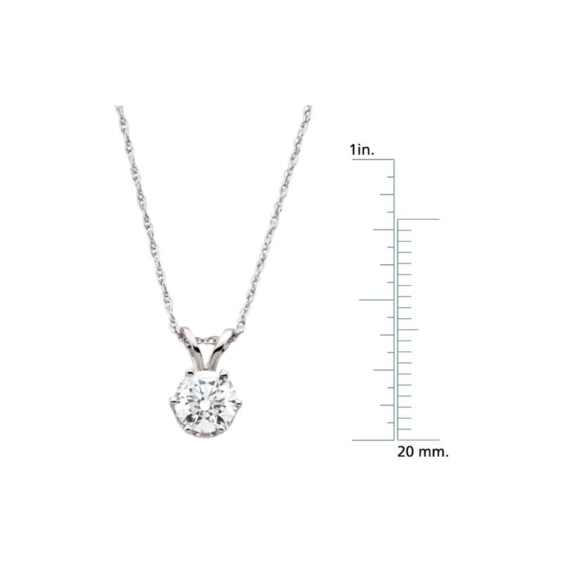 Ladies' Jewelry Diamond Solitaire Necklace