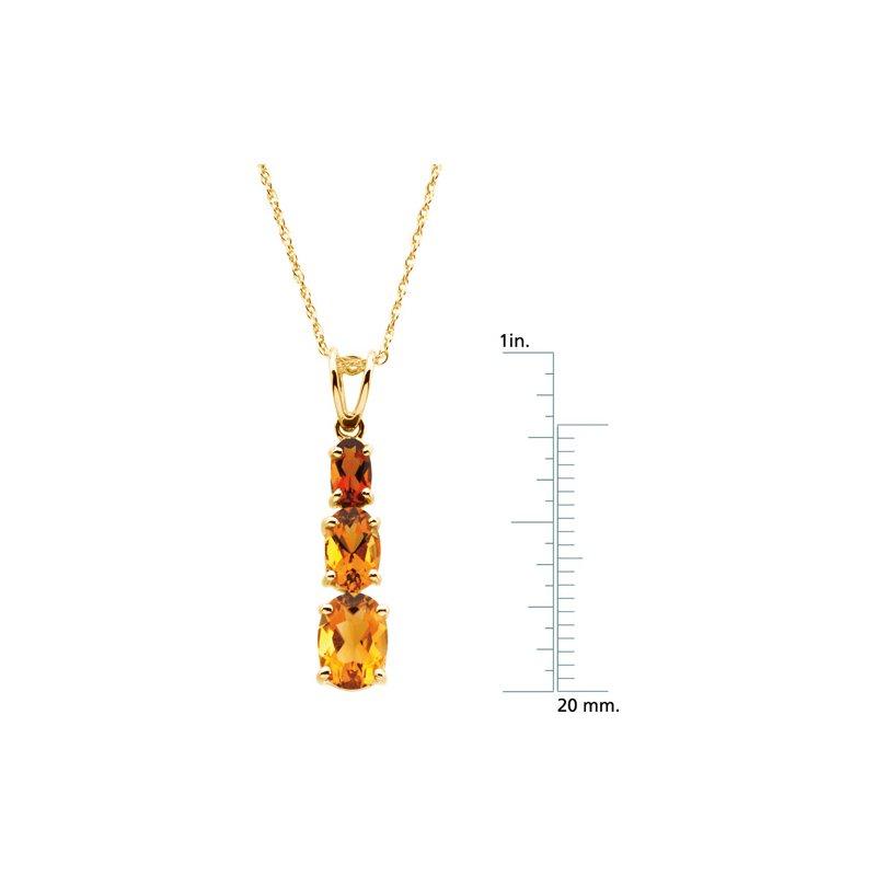 Ladies' Jewelry Genuine Citrine & Madeira Citrine Necklace