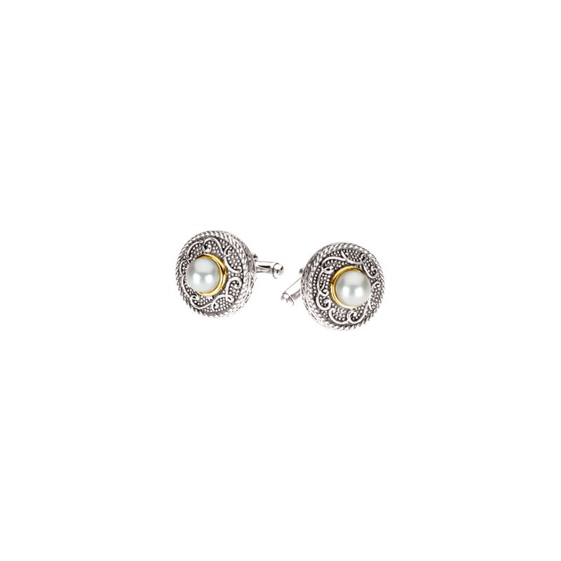 Men's Jewelry Freshwater Cultured Pearl Cuff Links