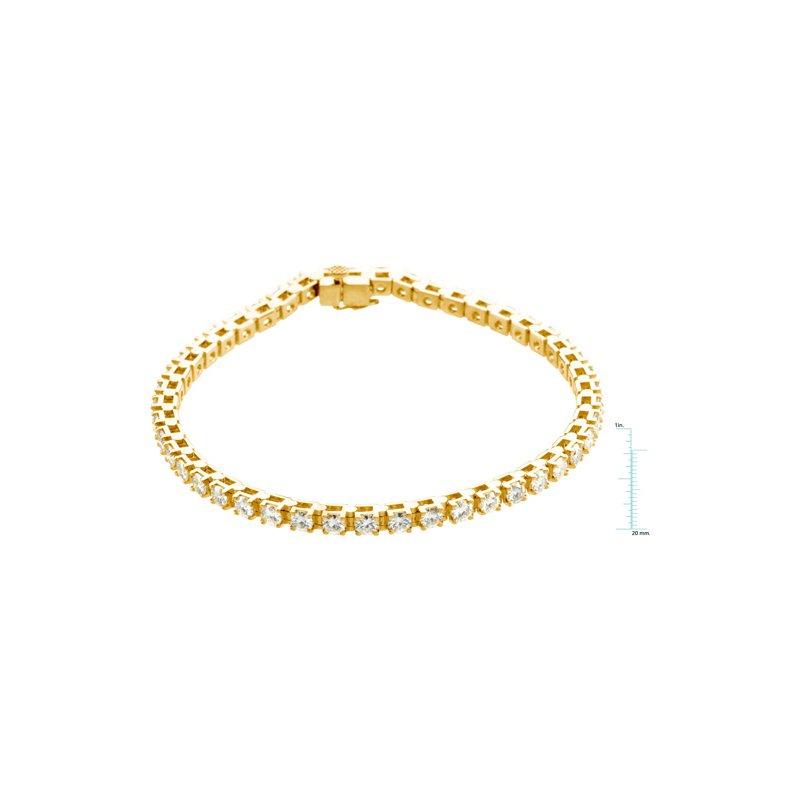 Ladies' Jewelry Moissanite Tennis Line Bracelet