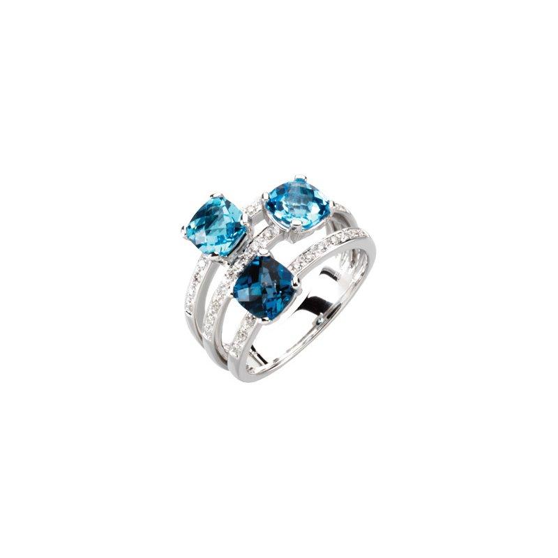 Holiday Ideas Genuine Topaz & Diamond Ring