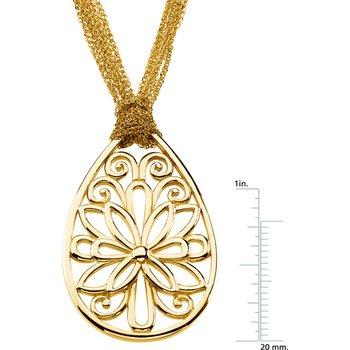 Gold Fashion Filigree Necklace