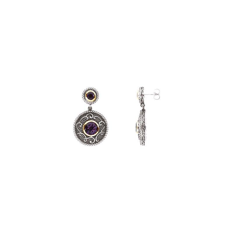Ladies' Jewelry Genuine Amethyst Earrings