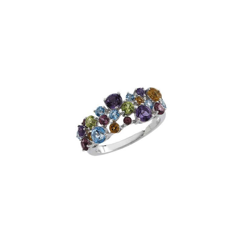 Ladies' Jewelry Genuine Multi Gem-stone Ring