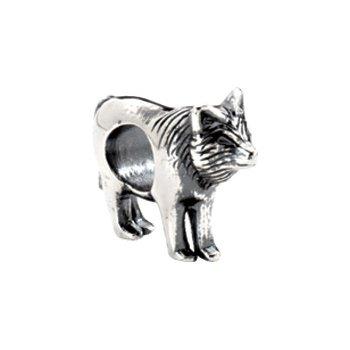 Kera Sterling Silver Wolf Bead