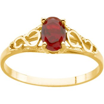 Teen Imitation June Birthstone Ring