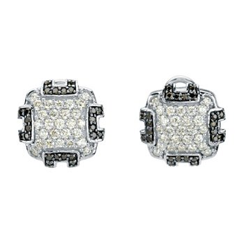 1/4 ct tw Black & White Diamond Earrings