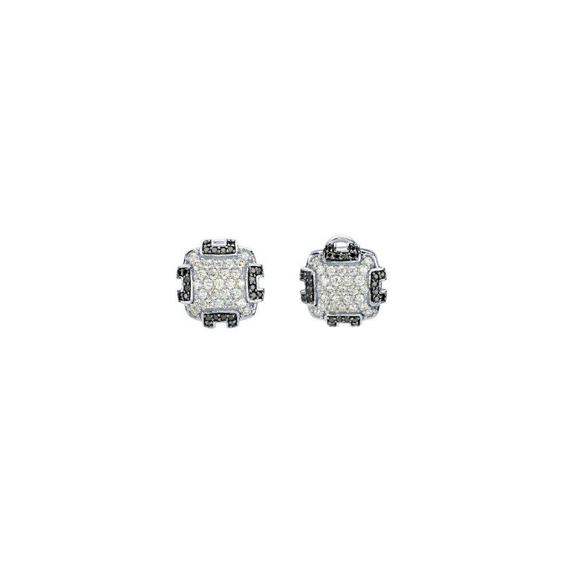 Holiday Ideas 1/4 ct tw Black & White Diamond Earrings