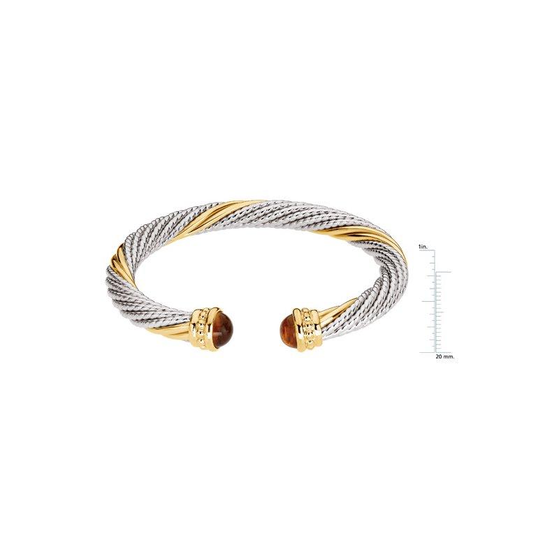 Ladies' Jewelry Genuine Citrine Cable Bracelet