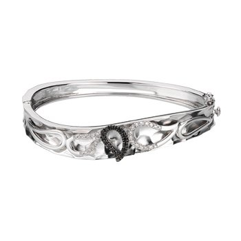 Black & White Diamond Bangle Bracelet