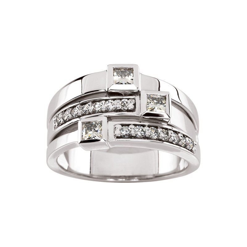 Ladies' Jewelry Moissanite & Diamond Ring