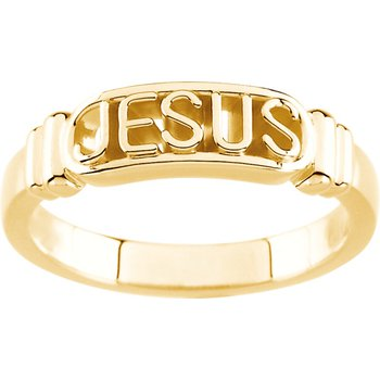 """""""In The Name of Jesus"""" Chastity Ring with Box - Sizes 4-8"""