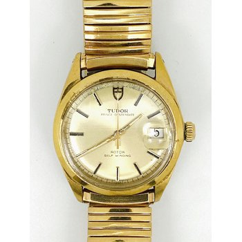 Gent's gold tone, Tudor Prince Oysterdate watch