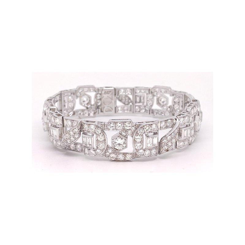 Estate & Vintage Vintage PREVIOUSLY LOVED® Platinum and Diamond Deco Style Bracelet