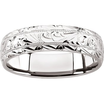 Hand Engraved Band - Sizes 9-12 1/2