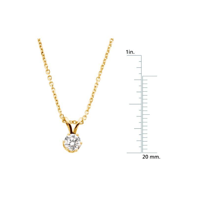 Ladies' Jewelry Diamond Solitaire Necklace