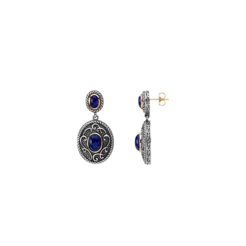 Ladies' Jewelry Genuine Lapis Earrings