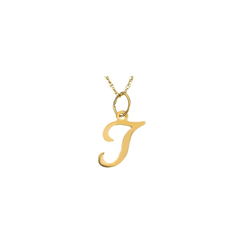 """Ladies' Jewelry Initial """"T"""" Necklace"""