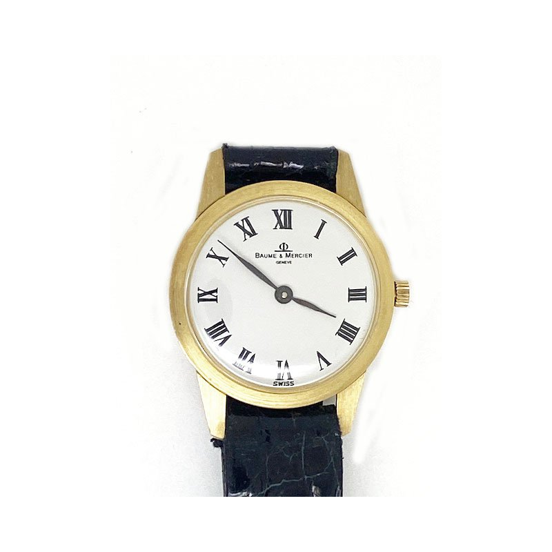 Pre-owned and Vintage Watches Lady's 18K yellow gold, Baumer & Mercier watch