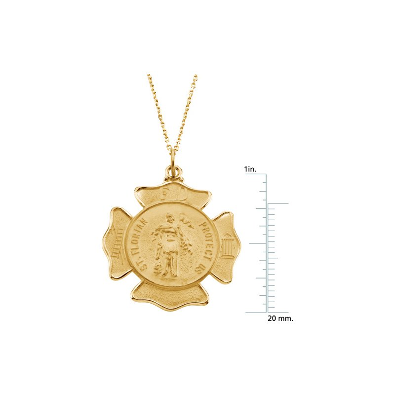 Religious Jewelry St. Florian Medal Pendant