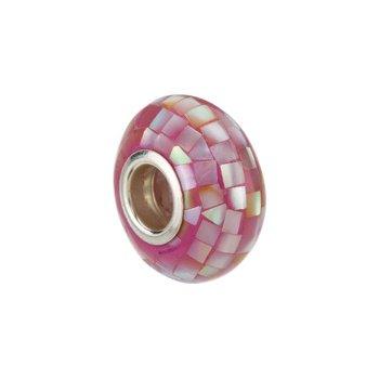 Kera Purple Mosaic Mother of Pearl Bead