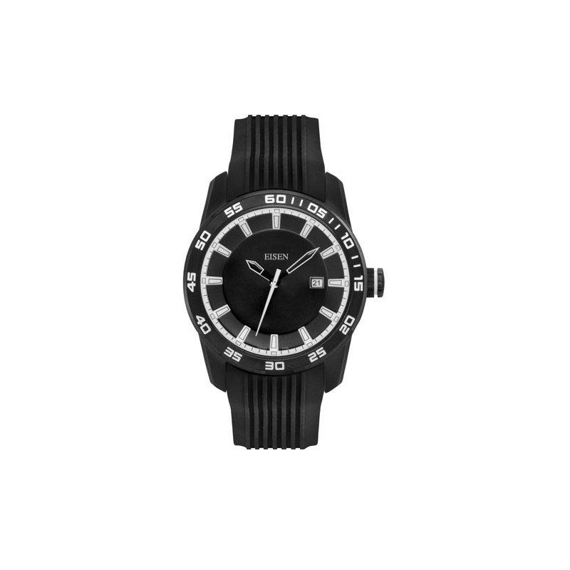 Eisen Watches Eisen Gent's Black & White Sports Quartz Wrist Watch