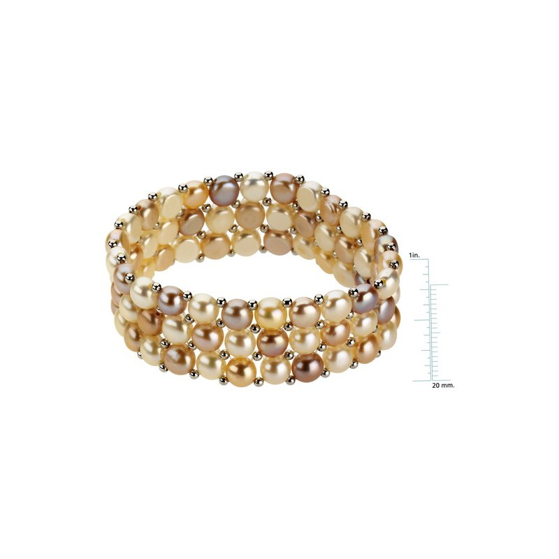 Ladies' Jewelry Freshwater Natural Multi-Color Cultured Pearl Bracelet