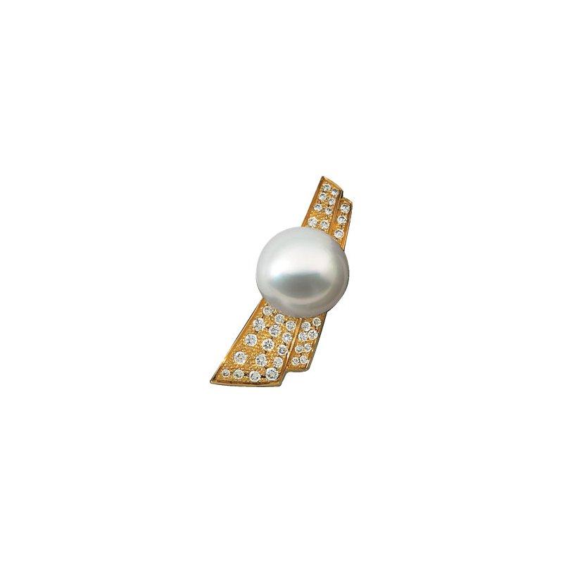 Ladies' Jewelry South Sea Cultured Pearl & Diamond Brooch