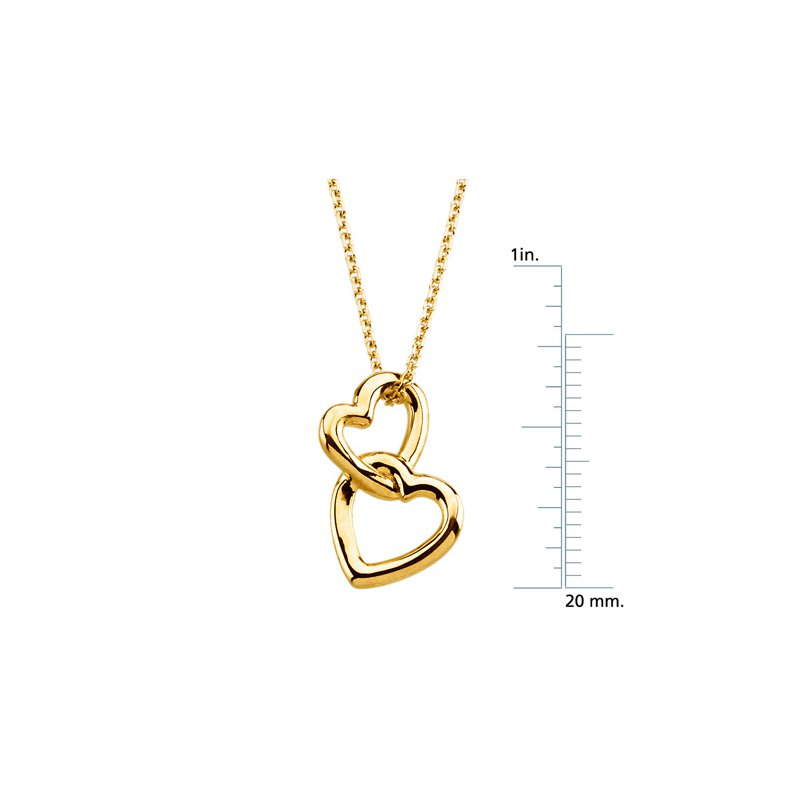 Ladies' Jewelry Heart Pendant on a Solid Rope Chain