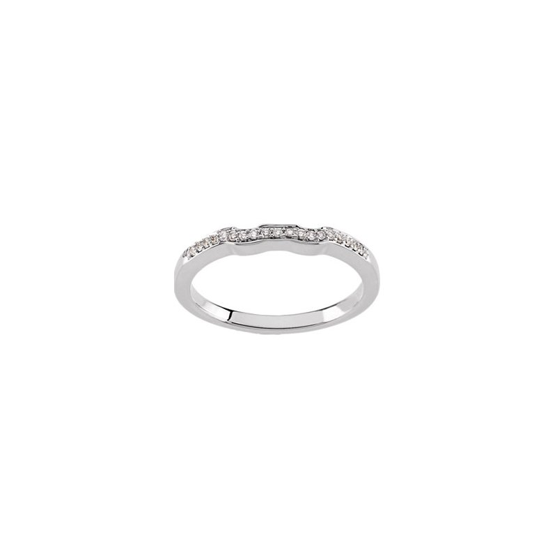 Susan Eisen 1/10 ct tw Diamond Wedding Band