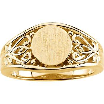 Gold Fashion Signet Ring