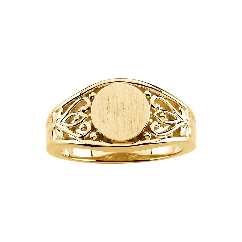 Ladies' Jewelry Gold Fashion Signet Ring
