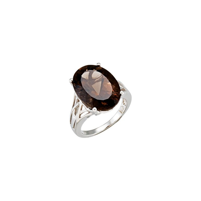 Holiday Ideas Genuine Smoky Quartz Ring