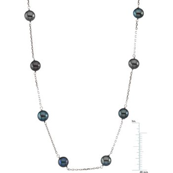 Freshwater Black Cultured Pearl Necklace