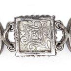 Vintage Silver Vintage  Multi Stone and Sterling silver bracelet