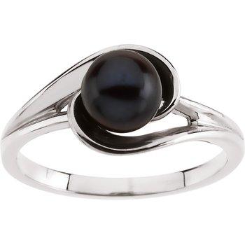 Akoya Black Cultured Pearl Ring