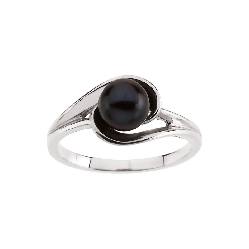 Ladies' Jewelry Akoya Black Cultured Pearl Ring