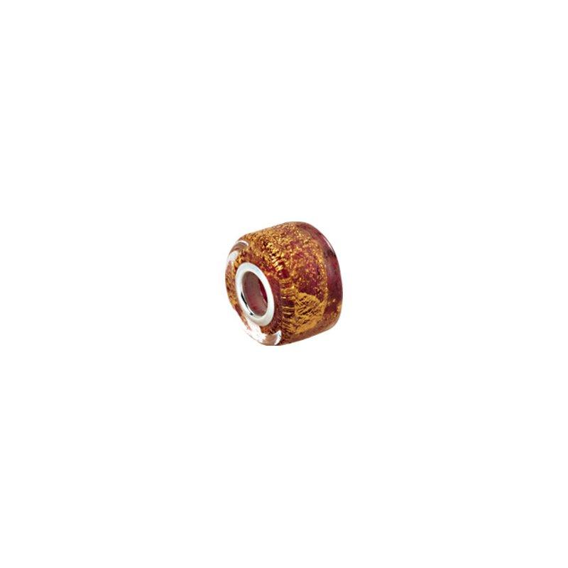 Holiday Ideas Kera Gold & Ruby Murano Glass Wheel Bead