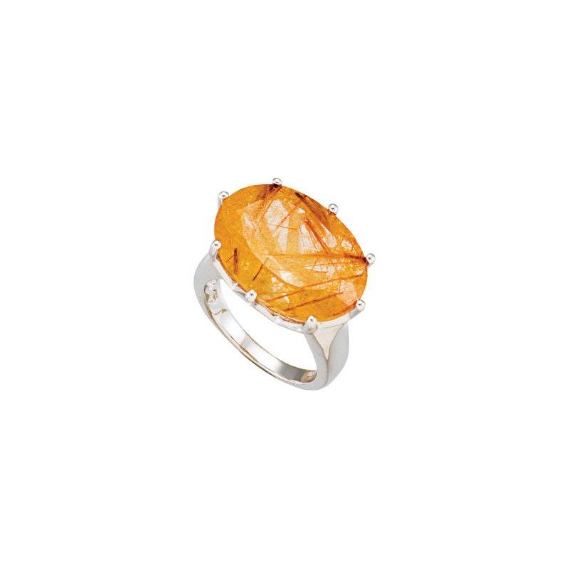 Holiday Ideas Genuine Rutilated Quartz Ring