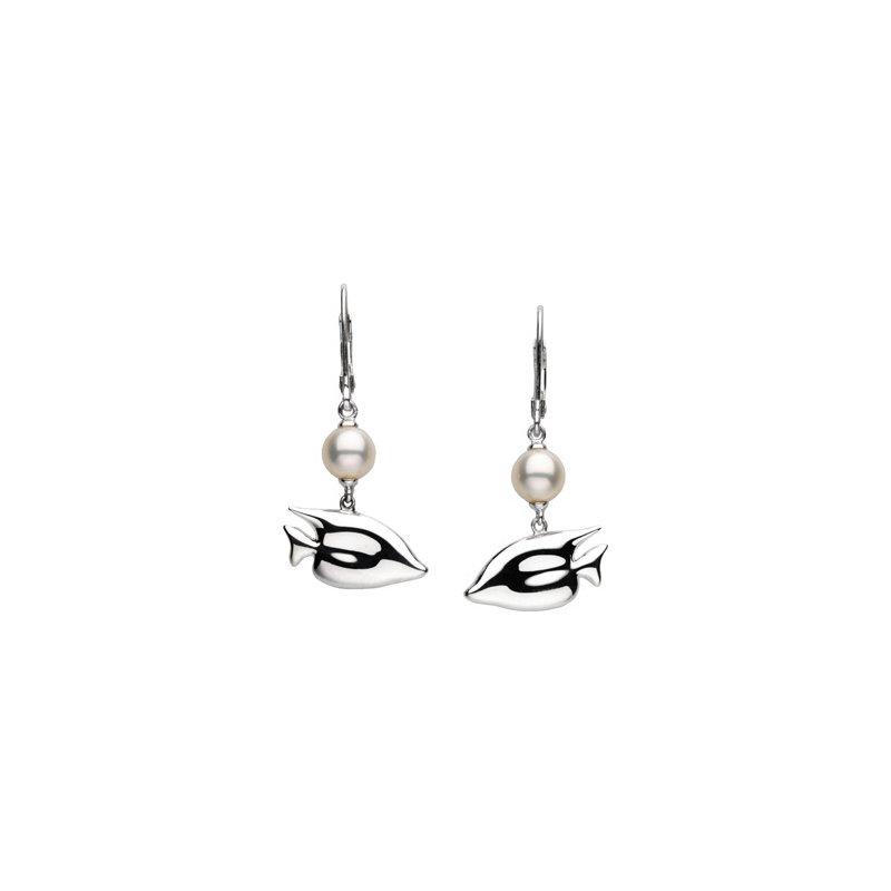 Ladies' Jewelry Freshwater Cultured Pearl Sunfish Earrings