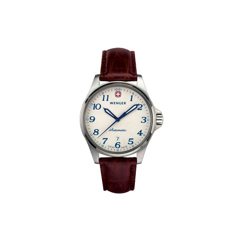 Eisen Watches Wenger Mens Brown Terragraph Automatic Watch