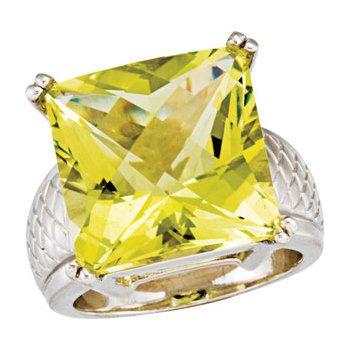 Genuine Green Quartz Ring
