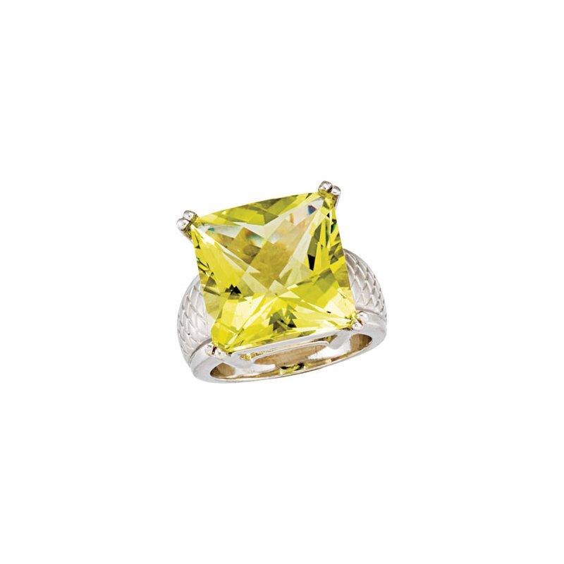 Holiday Ideas Genuine Green Quartz Ring