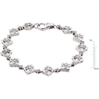 Moissanite & Diamond Bracelet
