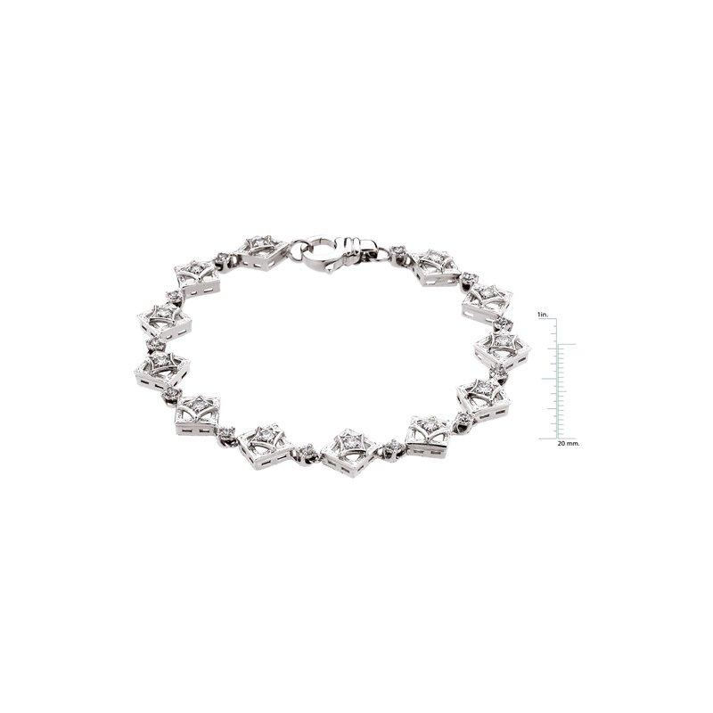 Ladies' Jewelry Moissanite & Diamond Bracelet